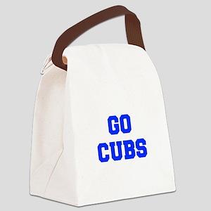 Cubs-Fre blue Canvas Lunch Bag