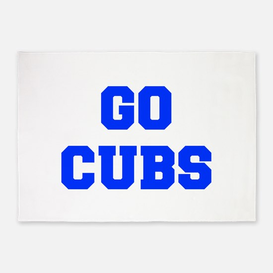 Cubs-Fre blue 5'x7'Area Rug