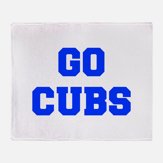 Cubs-Fre blue Throw Blanket