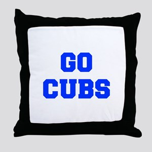 Cubs-Fre blue Throw Pillow