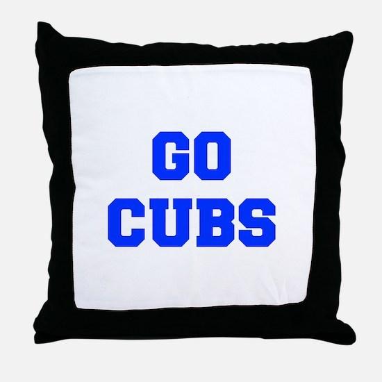 Cubs-Fre blue Throw Pillow