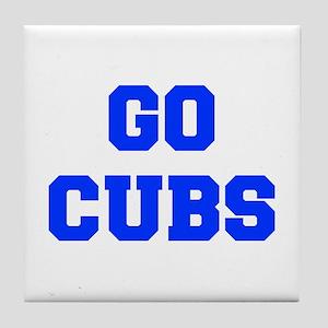 Cubs-Fre blue Tile Coaster