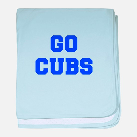 Cubs-Fre blue baby blanket