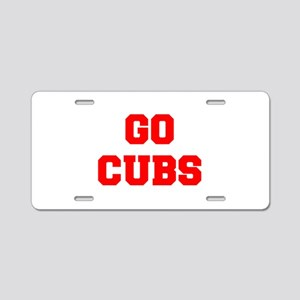 CUBS-Fre red Aluminum License Plate