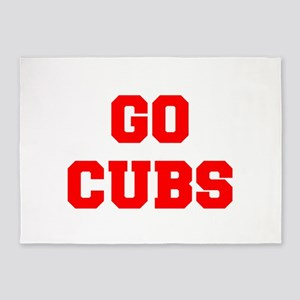 CUBS-Fre red 5'x7'Area Rug