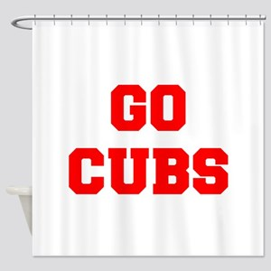 CUBS-Fre red Shower Curtain