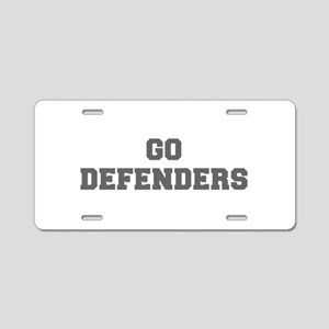 DEFENDERS-Fre gray Aluminum License Plate