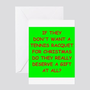 Christmas tennis greeting cards cafepress tennis greeting cards m4hsunfo Choice Image