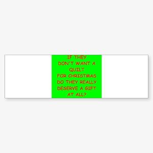 quilt Bumper Sticker