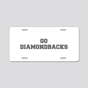 DIAMONDBACKS-Fre gray Aluminum License Plate