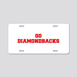 DIAMONDBACKS-Fre red Aluminum License Plate