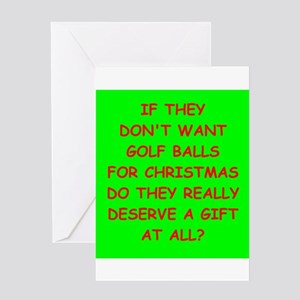 golf ball Greeting Cards