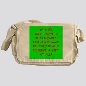 dictionary Messenger Bag