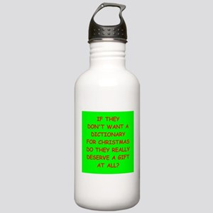 dictionary Water Bottle