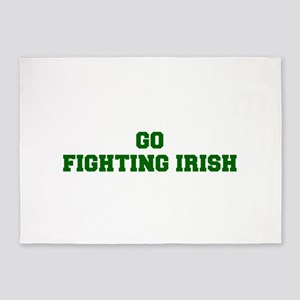 Fighting Irish-Fre dgreen 5'x7'Area Rug