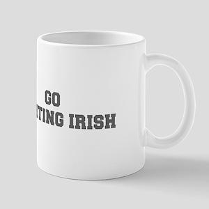 FIGHTING IRISH-Fre gray Mugs
