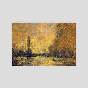 Monet Gold Landscape Low Poly 4' x 6' Rug