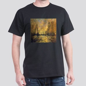 Monet Gold Landscape Low Poly T-Shirt