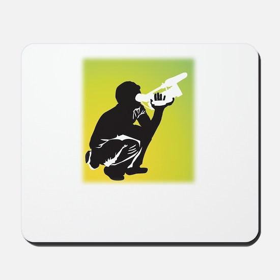 Kneeling Videographer Mousepad
