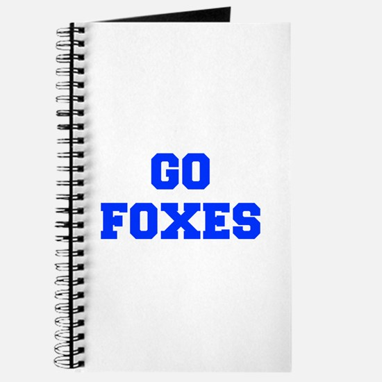 Foxes-Fre blue Journal
