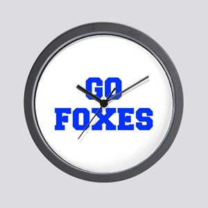 Foxes-Fre blue Wall Clock