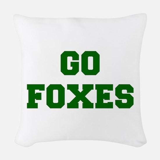 Foxes-Fre dgreen Woven Throw Pillow
