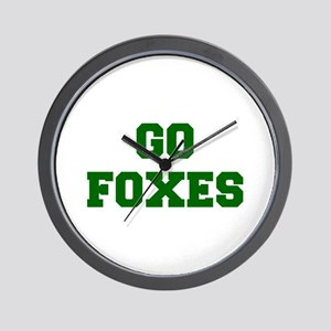 Foxes-Fre dgreen Wall Clock