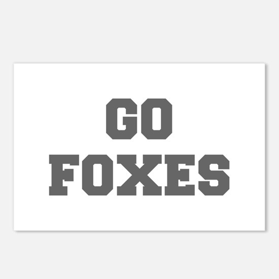 FOXES-Fre gray Postcards (Package of 8)