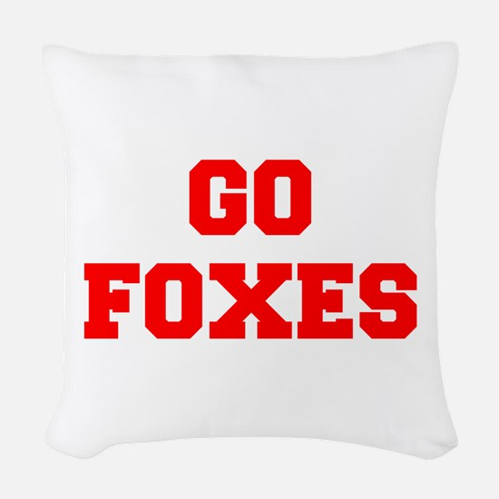 FOXES-Fre red Woven Throw Pillow