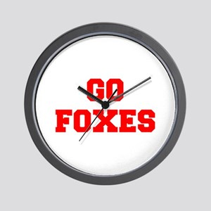 FOXES-Fre red Wall Clock