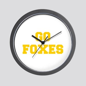 Foxes-Fre yellow gold Wall Clock