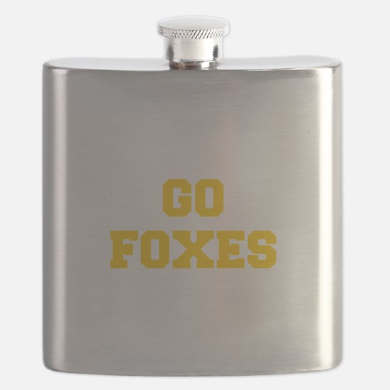 Foxes-Fre yellow gold Flask