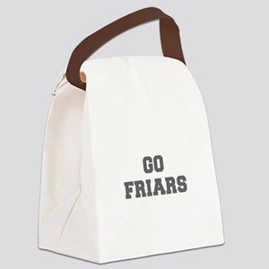FRIARS-Fre gray Canvas Lunch Bag