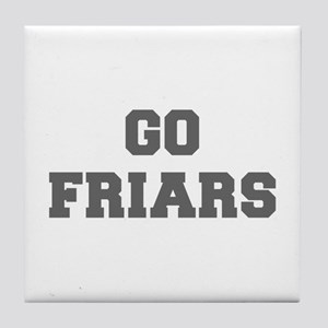 FRIARS-Fre gray Tile Coaster