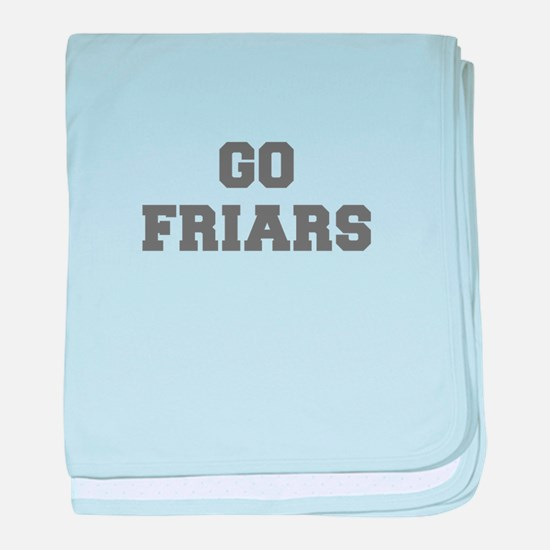 FRIARS-Fre gray baby blanket