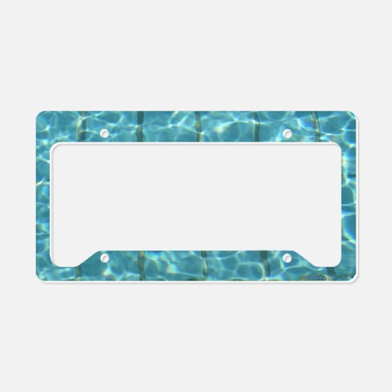 I Love Swimming  License Plate Holder