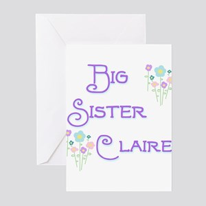 Big Sister Claire Greeting Cards (Pk of 10)