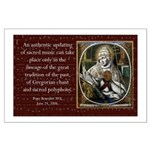 Gregorian Chant Poster, Large