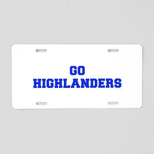Highlanders-Fre blue Aluminum License Plate