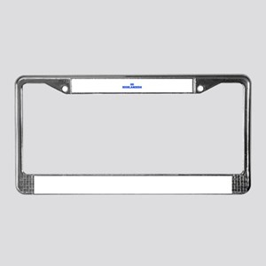 Highlanders-Fre blue License Plate Frame