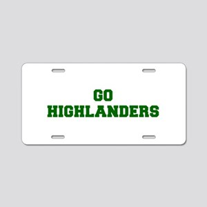 Highlanders-Fre dgreen Aluminum License Plate