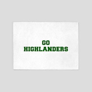 Highlanders-Fre dgreen 5'x7'Area Rug