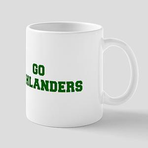Highlanders-Fre dgreen Mugs