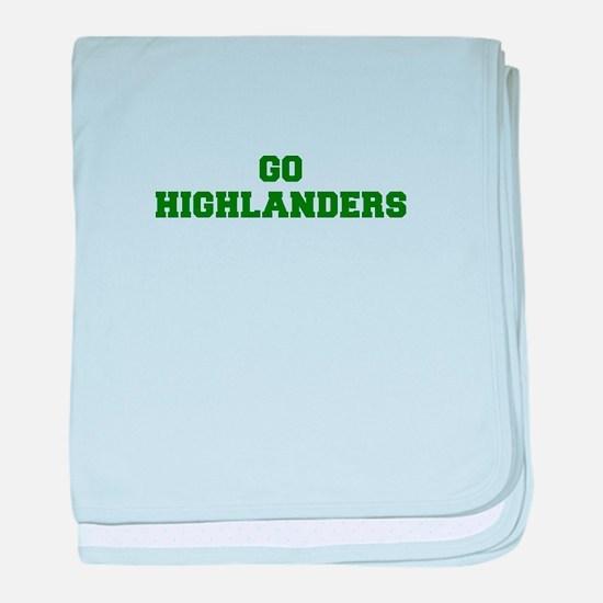 Highlanders-Fre dgreen baby blanket