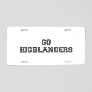 HIGHLANDERS-Fre gray Aluminum License Plate