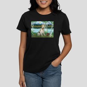 Wire Fox Terrier in Birches Women's Dark T-Shirt