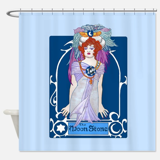 The Moonstone Shower Curtain