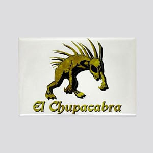 Chupacabra Yellow Rust Rectangle Magnet