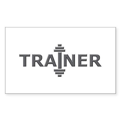 Trainer Metal Rectangle Sticker