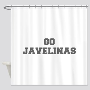 JAVELINAS-Fre gray Shower Curtain
